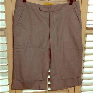 Cuffed knee length shorts